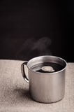 Hot cup of coffee Royalty Free Stock Images