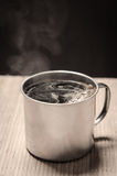 Hot cup of coffee Royalty Free Stock Photo