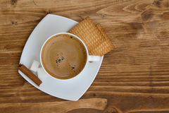Hot cup of coffee Stock Photos