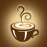 Hot Cup of Coffee with Steam Stock Photography