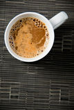 Hot cup of coffee Royalty Free Stock Photography