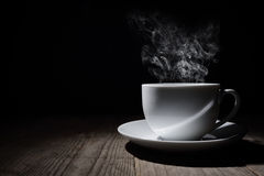 Hot cup of coffee or tea Royalty Free Stock Photo