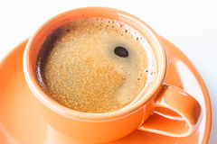Hot cup of double shots espresso Royalty Free Stock Images