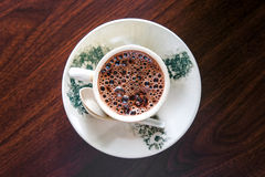 A hot cup of hot chocolate Stock Image