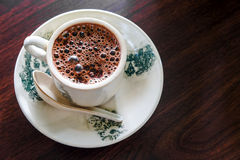 A hot cup of hot chocolate Stock Photo