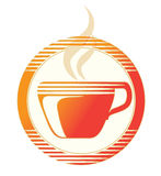 Hot cup icon. Icon of a hotcup of coffee or tea Royalty Free Stock Photography