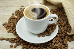 A Hot Cup of Strong Coffee Stock Photos