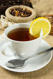 Hot cup of tea Stock Photography