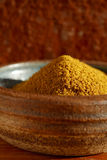 Hot curry powder spice in bowl Stock Photos