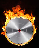 Hot cutting wheel Stock Images