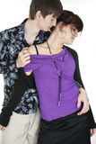 Hot dance of  young couple Royalty Free Stock Image