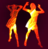 Hot dancer ilustration. The hot dancers idol star pose silhouette illustration Stock Photography