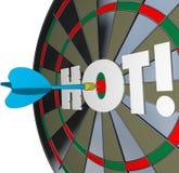 Hot Dart Popular Great Performance Dartboard Stock Photography
