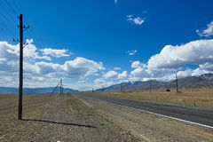 Hot day in Altai steppe Stock Images
