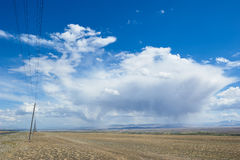 Hot day in Altai steppe Stock Photo