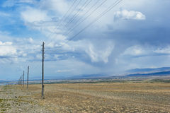 Hot day in Altai steppe Royalty Free Stock Images