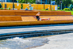 Hot day, bon aqua Stock Photo