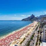 Hot day on Ipanema Beach in Rio de Janeiro Royalty Free Stock Photography
