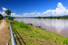 Hot day in Mekong river Stock Photo