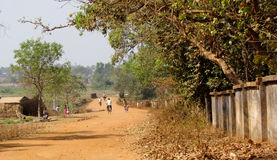 Hot Day In Santiniketan. I have taken this pic in Santiniketan. in intention to show a summer day how the place looks like. it is in a village side road Stock Image