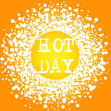 Hot Day Summer Lettering typography card stock image