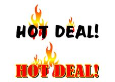 Hot Deal. Illustration of hot deal text on white background Royalty Free Stock Images