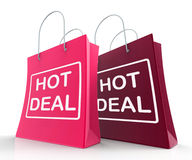Hot Deal Bags Show Shopping  Discounts and Bargains Stock Images
