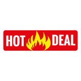 Hot deal on fire banners Royalty Free Stock Image