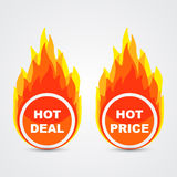 Hot deal and hot price buttons Royalty Free Stock Images