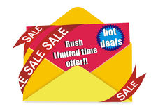 Hot deal invitation card Royalty Free Stock Images