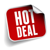 Hot deal label. Isolated Stock Photography