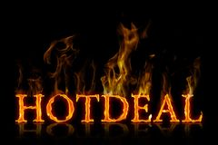 Hot deal lettering burning english Stock Images
