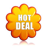 Hot deal orange flower label Stock Image