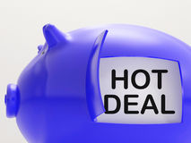 Hot Deal Piggy Bank Means Best Price And Quality Royalty Free Stock Photography