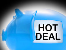 Hot Deal Piggy Bank Message Means Best Price And Quality Royalty Free Stock Photos