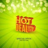 Hot deal sale 3d letters poster. Promotional marketing Sale poster Stock Photography