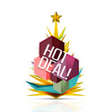 Hot deal sale promotion tags, badges for Christmas Royalty Free Stock Image