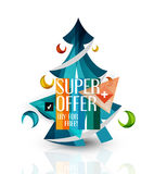 Hot deal sale promotion tags, badges for Christmas Stock Image