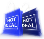 Hot Deal Shopping Bags Show Shopping  Discounts and Bargains Stock Photo
