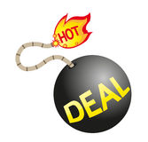 Hot deal sign Stock Images