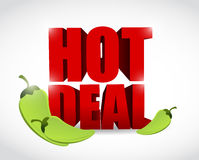 Hot deal sign illustration design Stock Photography