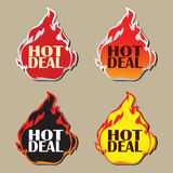 Hot deal stickers Royalty Free Stock Photo