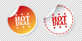 Hot deal stickers. Vector illustration on isolated background. vector illustration