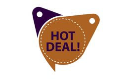 Hot Deal Tag Shop Template Isolated. Vector Stock Images