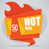 Hot deal Royalty Free Stock Photo