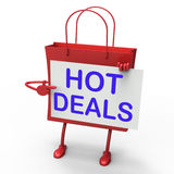 Hot Deals Bag Shows Discounts and Bargains Stock Image
