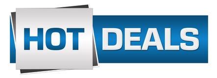 Hot Deals Blue Grey Horizontal Royalty Free Stock Photography