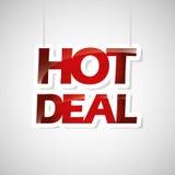 Hot deals design Royalty Free Stock Photos