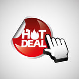 hot deals design Stock Photography