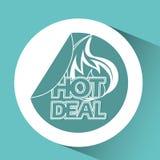 Hot deals design Stock Images
